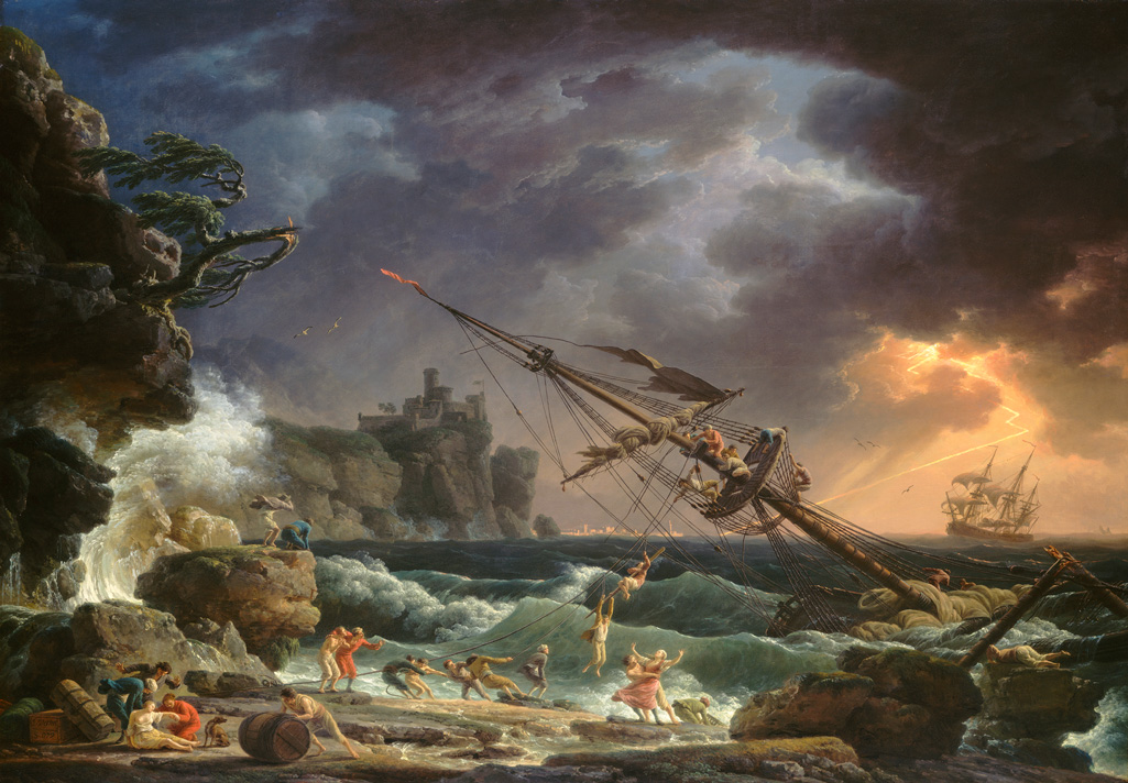 Claude Joseph Verent- The Shipwreck, National Gallery of Art