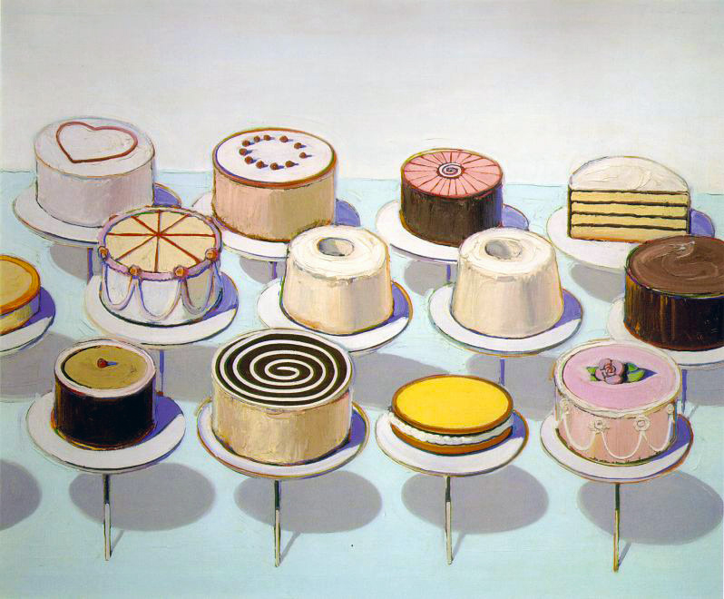 Wayne Thiebaud: Cakes, National Gallery of Art