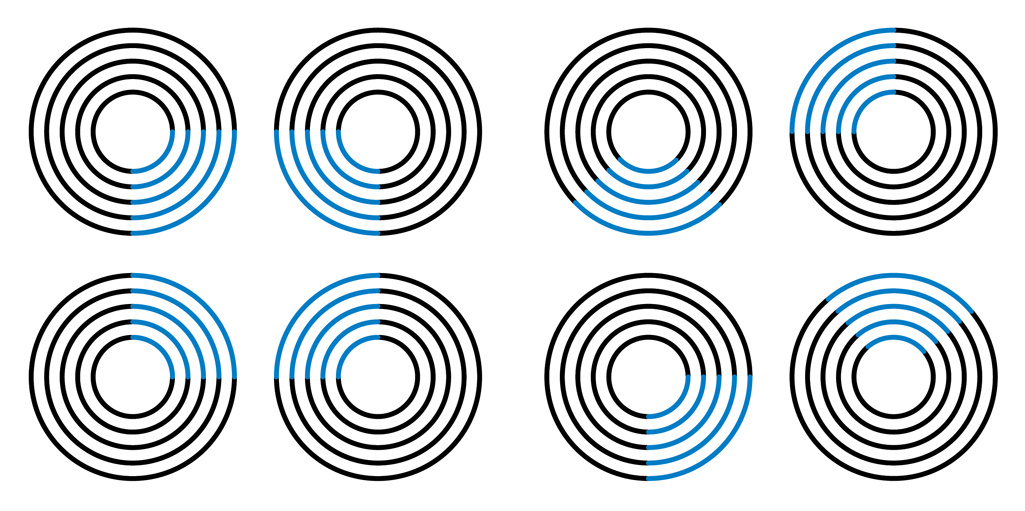 Diagram 1: Circles with Blue adapted from Donald Hoffman
