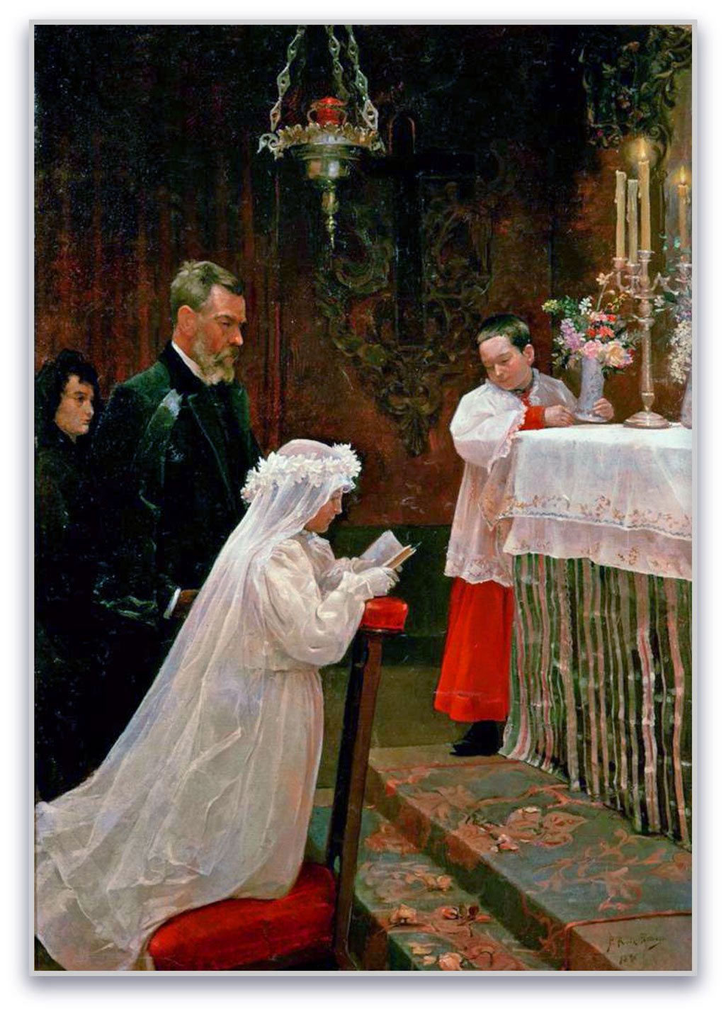 First Communion: 1896, 118 x 166 cm