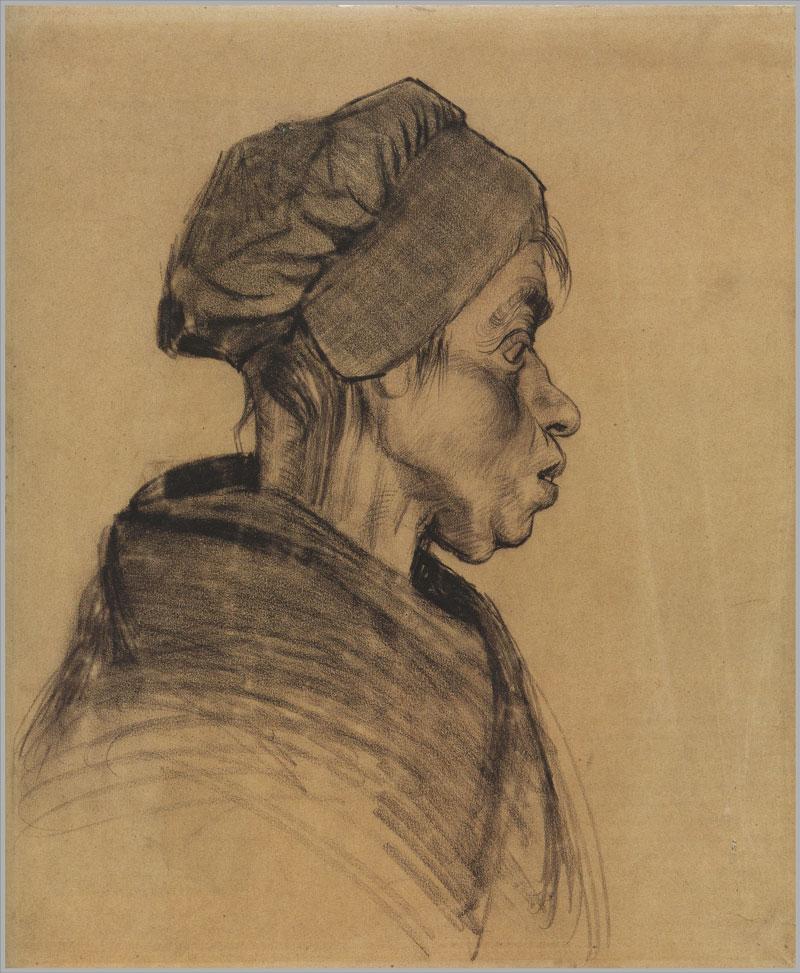Vincent Van Gogh: Head of a Woman, 1885