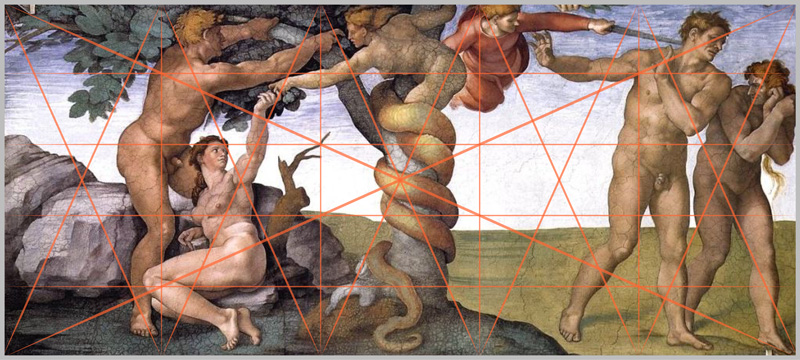 Michaelangelo: Fall of Man, Sistine Chapel
