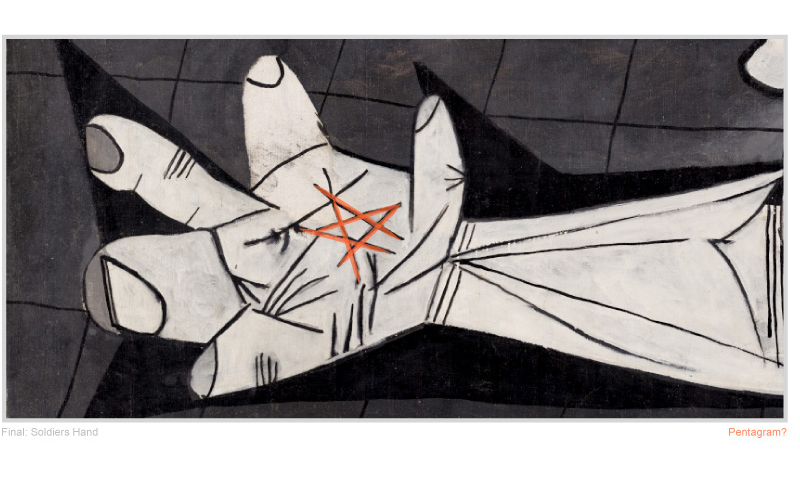 Picasso-Guernica-Final-Pentagram-Detail